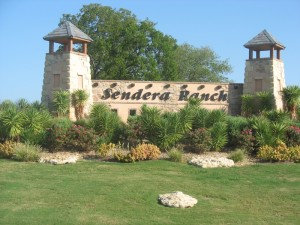 Sendera Ranch sign